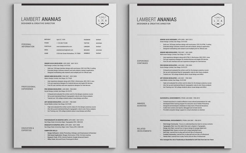 Download Two Page Resume Sample | haadyaooverbayresort.com