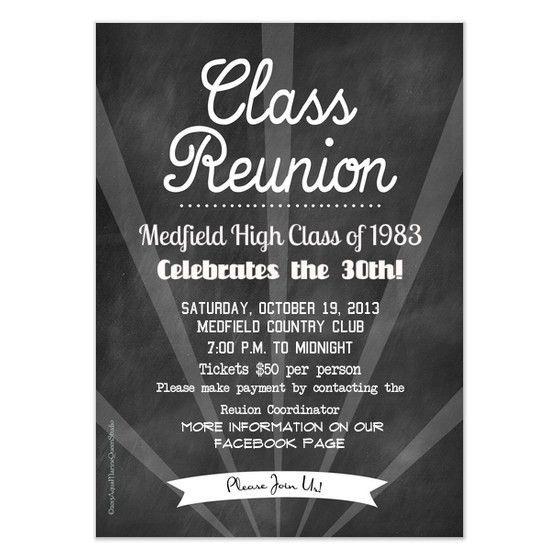 Chalkboard Reunion, Invitations & Cards on Pingg.com