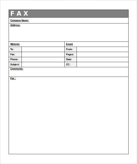 13+ Free Fax Cover Sheet Templates – Free Sample, Example Format ...