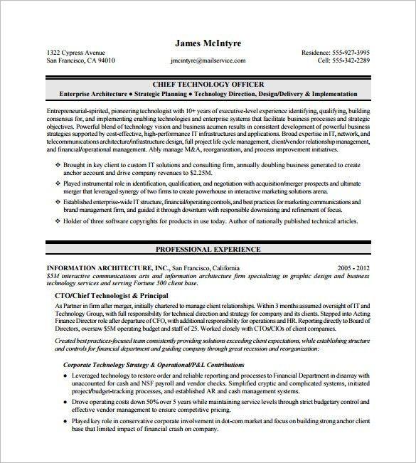 Download Executive Resume Template Word | haadyaooverbayresort.com