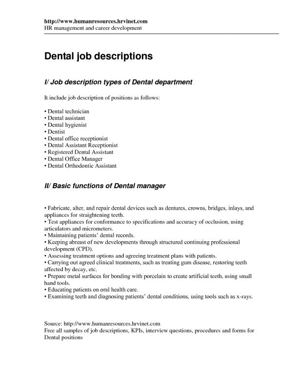 Captivating Orthodontic Assistant Resume Cover Letters For Dentist Resume .