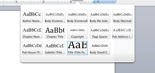 Getting Started With Microsoft Word Styles for Book Layout