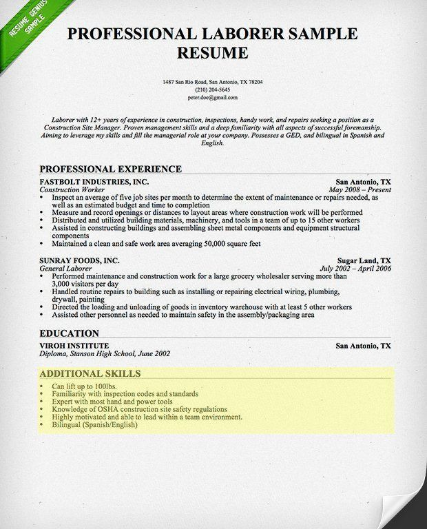 Incredible Design Professional Skills For Resume 10 How To Write A ...