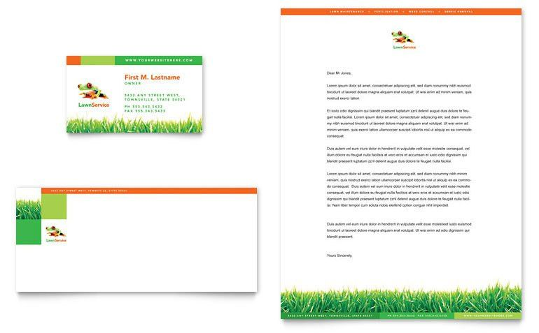 Lawn Maintenance Business Card & Letterhead Template - Word ...