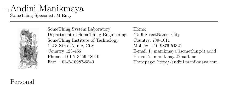 Academic CV/Resume using Latex | arwindra rizqiawan
