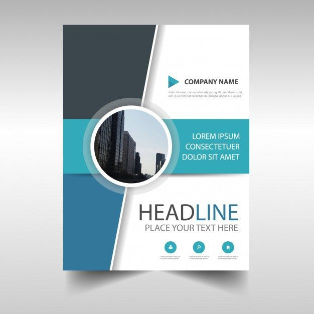 Abstract annual report book cover template Vector | Free Download