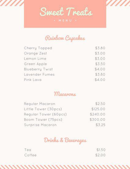Bakery Menu Templates - Canva