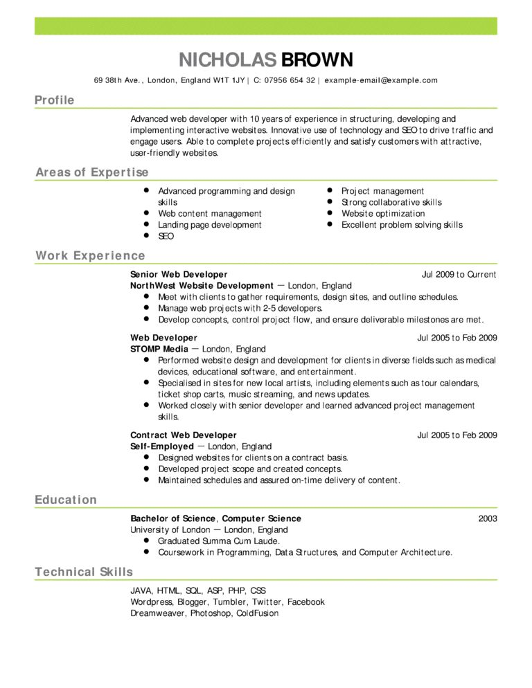 What Is A Good Resume 5 Edgar Has Classically Formatted Which I ...
