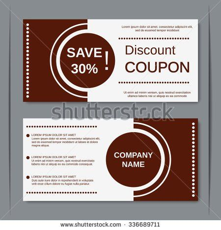Coupon Discount Design: Coupon template vector card design voucher ...