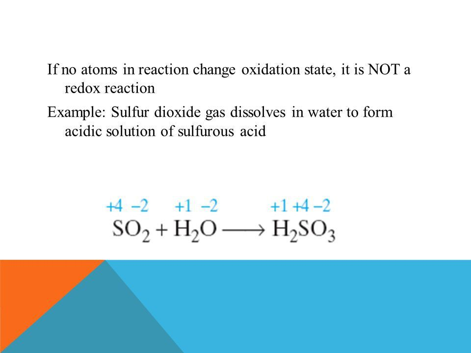 OXIDATION-REDUCTION REACTIONS (REDOX) PART ONE. Oxidation ...