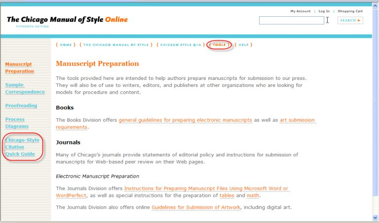 How to Use the Chicago Manual of Style Online - Proctor Library ...
