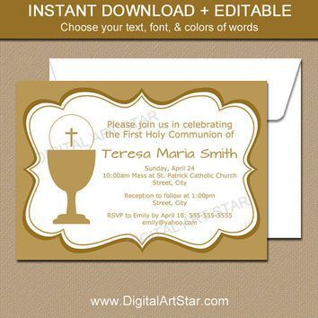 Best First Communion Invitations Products on Wanelo