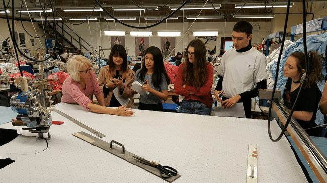 UCA Students Visit The Fashion Enter Factory