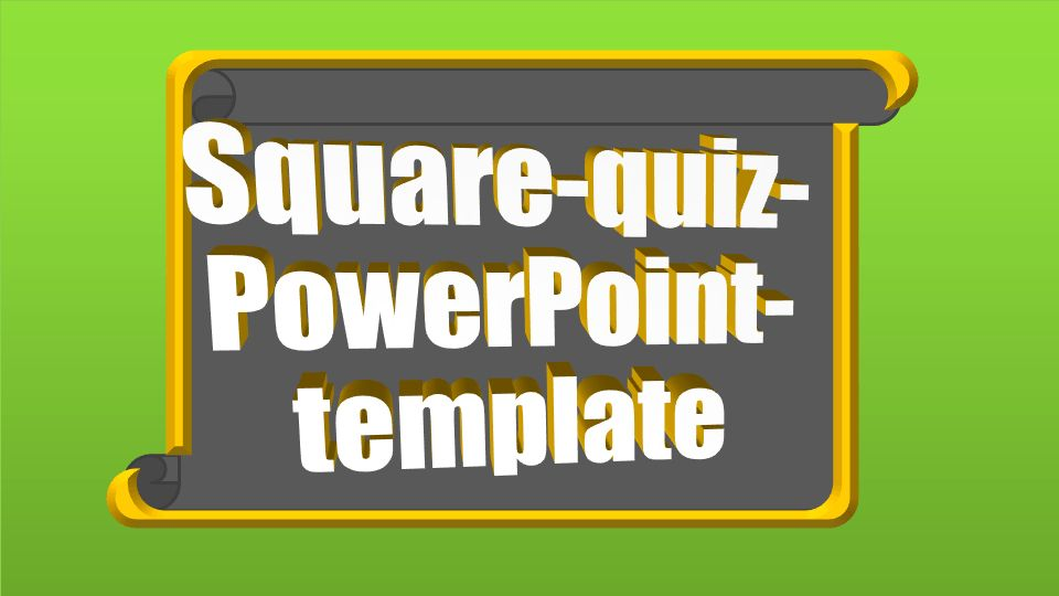 PowerPoint quiz template square | PPT Themes