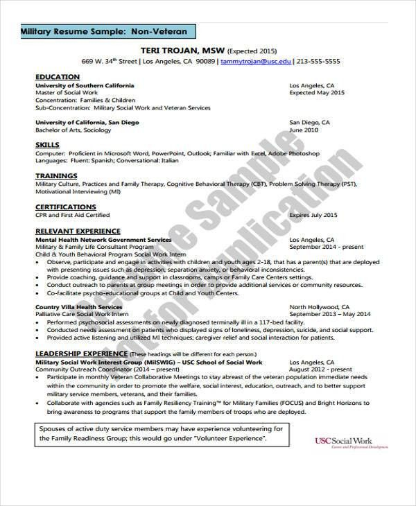 Social Worker Resumes - 8+ Free Word, PDF Format Download | Free ...