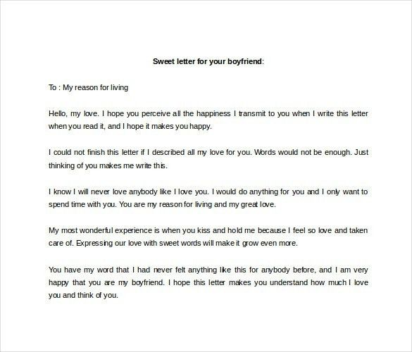 12+ Love Letter To Boyfriend – Free Sample, Example, Format with ...