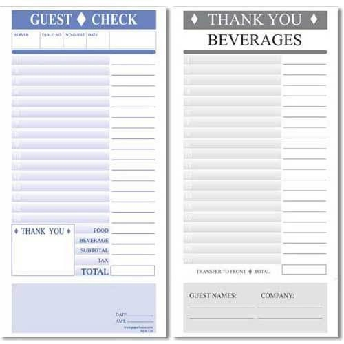 14 Best Images of Printable Restaurant Receipts - restaurant guest ...