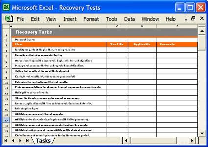 Recovery Tasks, Business Continuity Plan Template | A Busine… | Flickr