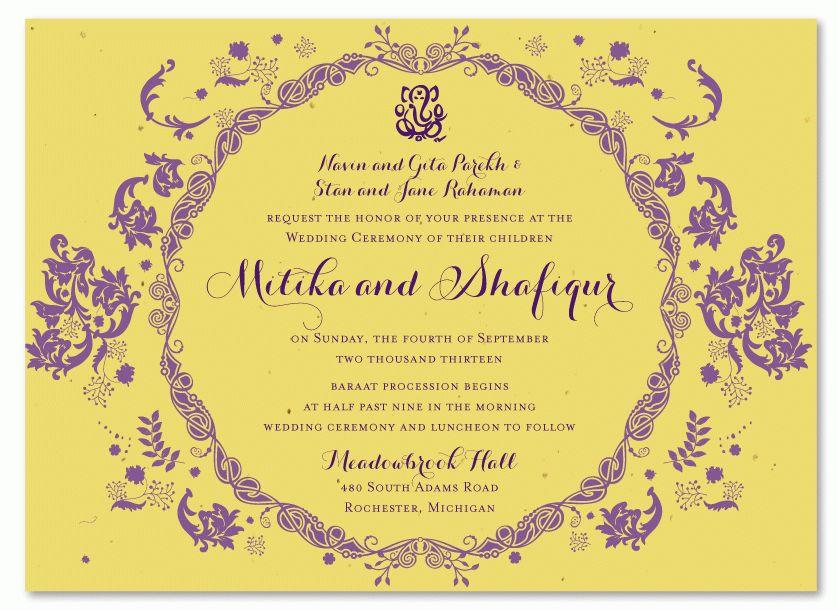 Indian wedding invitations Ideas : Indian wedding invitations ...