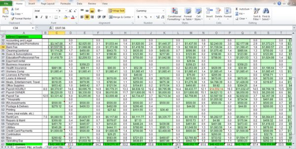 Expenses Spreadsheet Template For Small Business Bookkeeping ...
