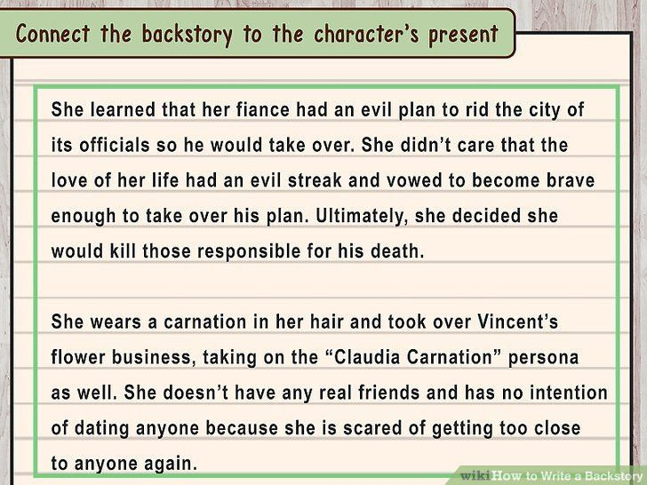 How to Write a Backstory: 11 Steps (with Pictures) - wikiHow