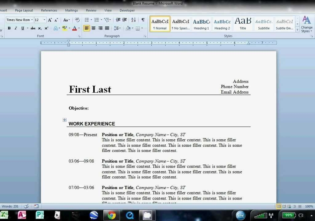 Beautiful Idea How To Do A Resume On Word 7 How Write Basic Resume .