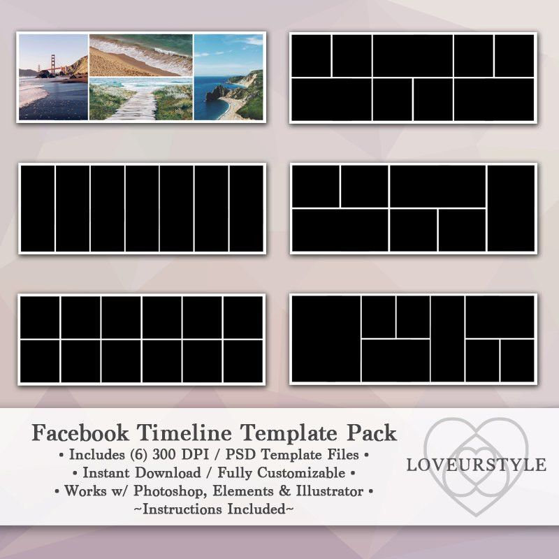 Facebook Timeline Template Pack Timeline Cover Facebook