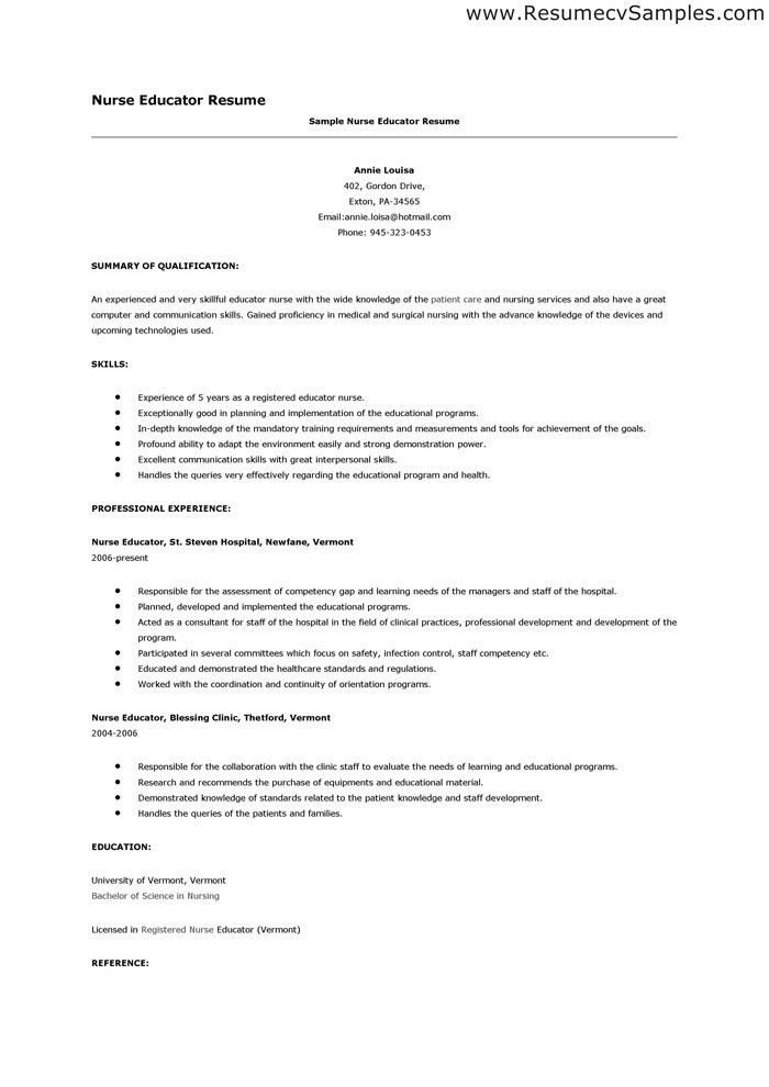 certified diabetes educator resume professional background ...