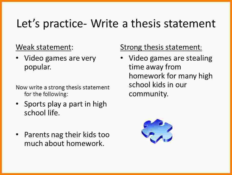 9+ thesis statement examples | Statement Information
