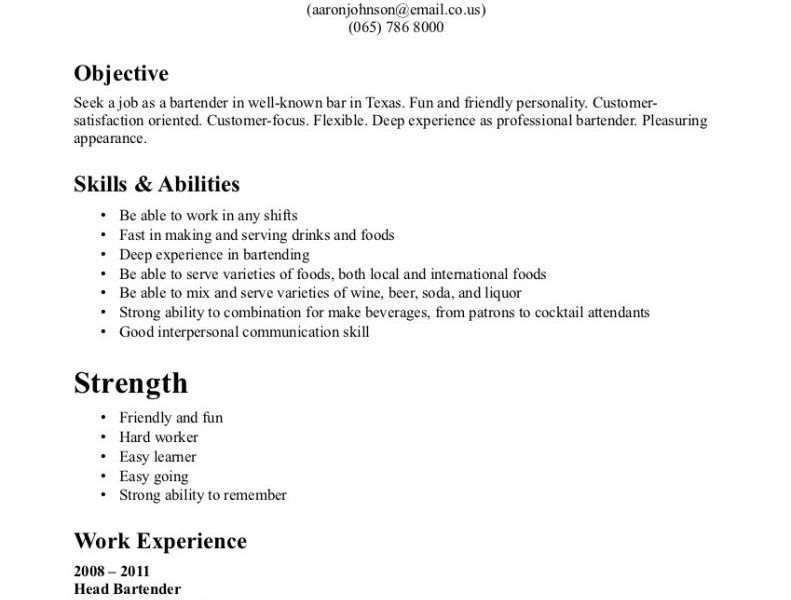 Bartender Resume Special Skills. impress the recruiters with these ...