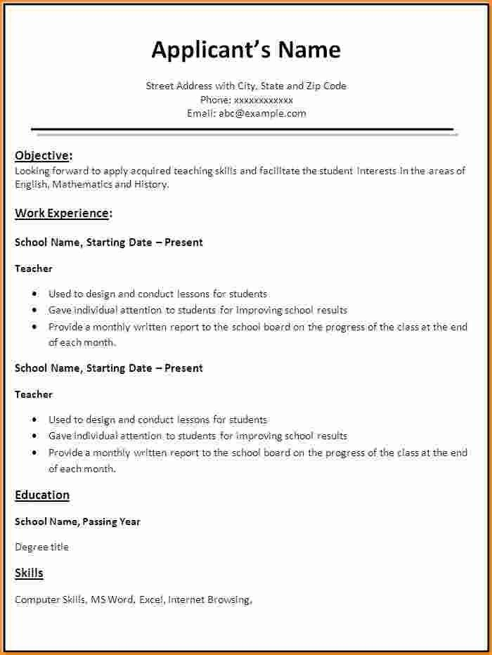 Fresher Resume Sample | jennywashere.com