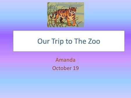 Zoo Careers & Behind the Scenes Tour - ppt download