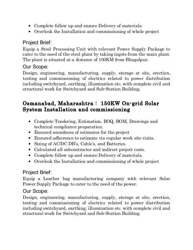 Resume Project Engineer 02-03-2016