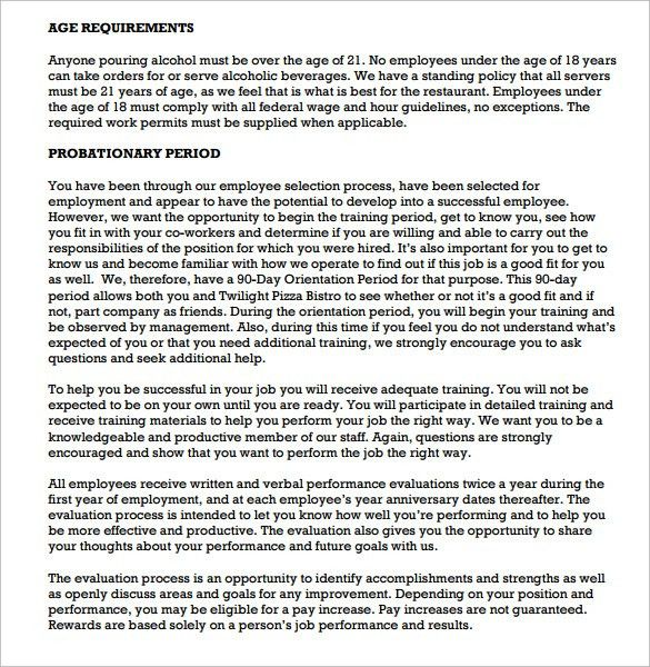 Sample Employee Manual - 11+Documents In PDF, Word
