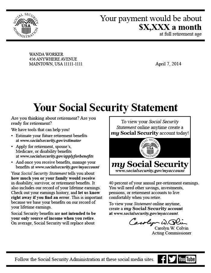 The Social Security Statement: Background, Implementation, and ...