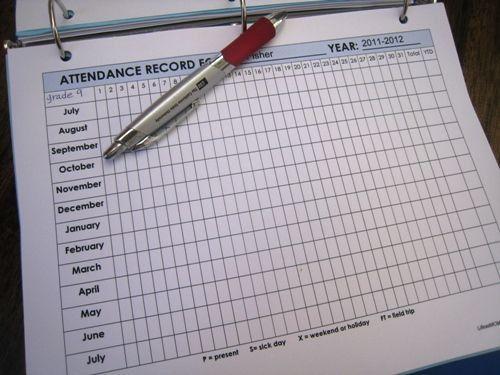 8 Best Images of Homeschool Attendance Sheet - Printable ...