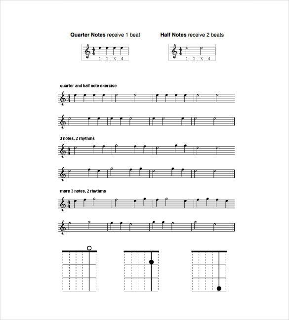 Sheet Music Template – 9+ Free Word, PDF Documents Download ...