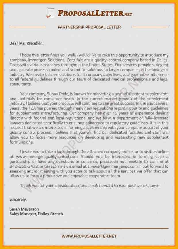 10+ business partnership proposal sample | bursary cover letter