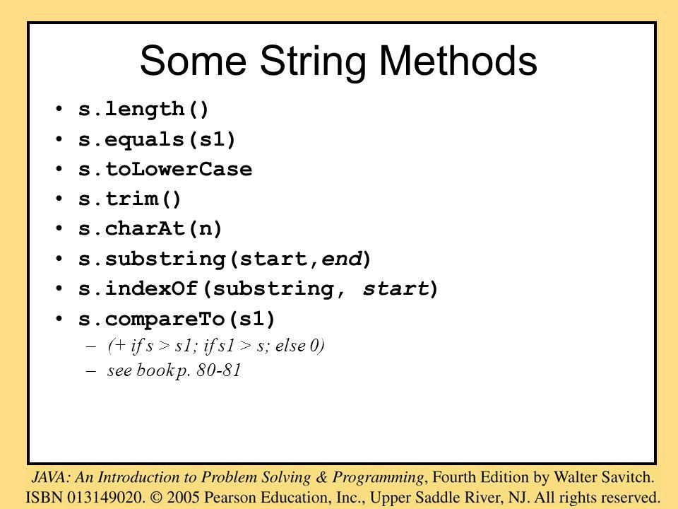 Introduction to Java The String class Input and Output. - ppt download