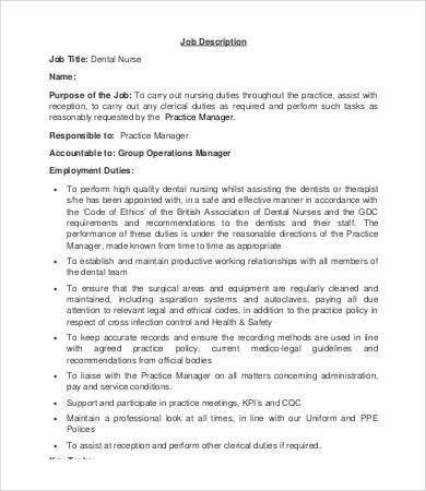 Dentist Job Description - 8+ Free Word, Excel, PDF Format Download ...