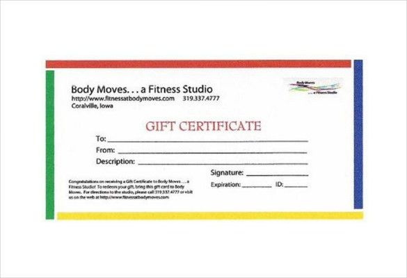 Fitness Gift Certificate Templates – 7+ Free Word, PDF Documents ...