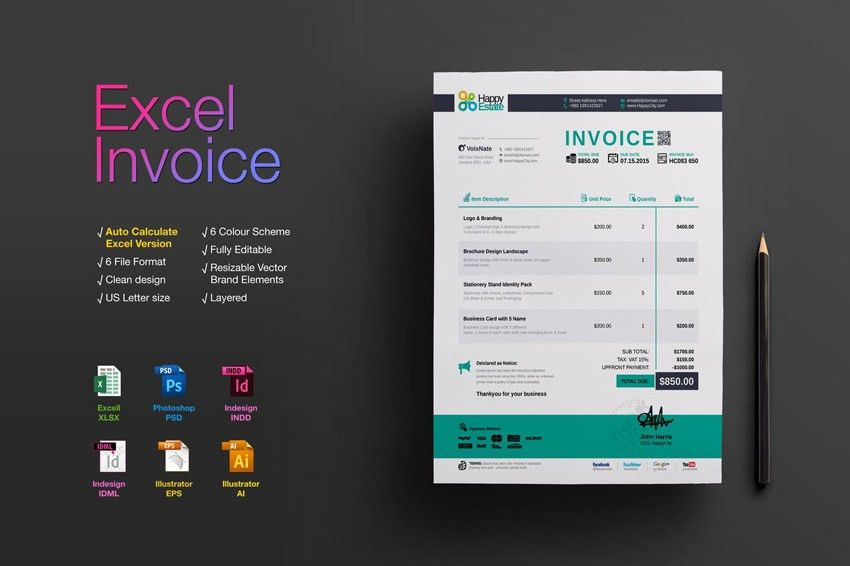 35 Invoice Templates for Corporations & Small Businesses