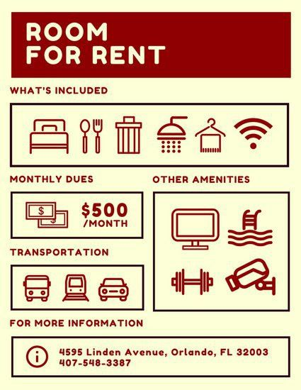 Room for Rent Flyer - Templates by Canva