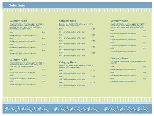 Free Restaurant Menu Templates - Microsoft Word Templates