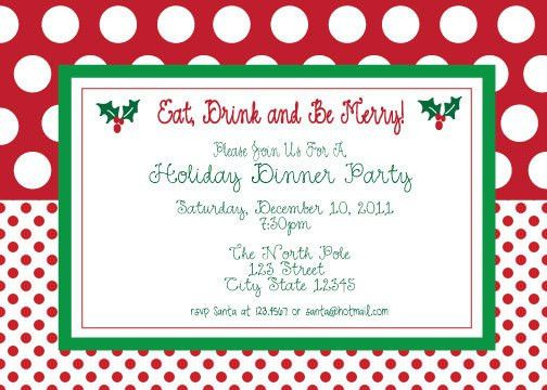 Gorgeous Free Christmas Party Invitations And Eat Drink And Be ...