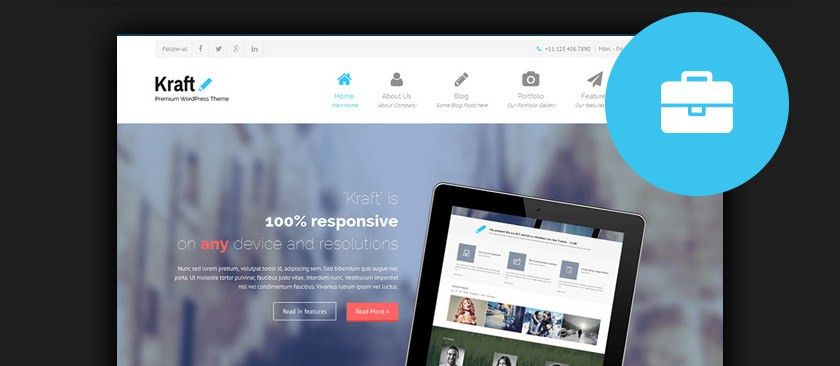 60 Best Responsive Free WordPress Business Themes 2017