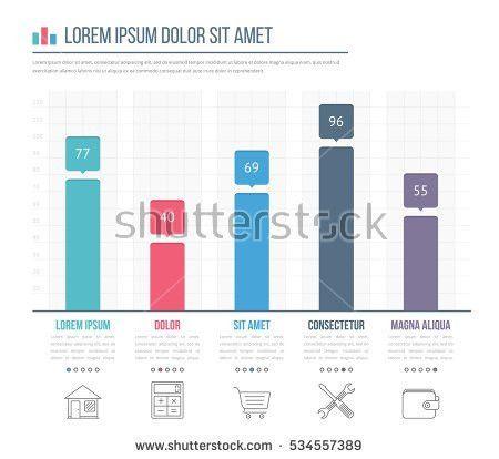 Horizontal Bar Graph Template Icons Vector Stock Vector 361674653 ...