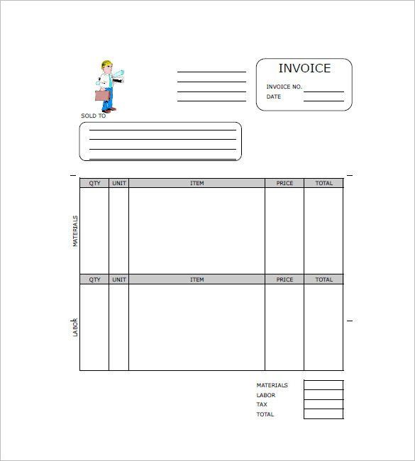 Independent Contractor Invoice Template | invoice sample template