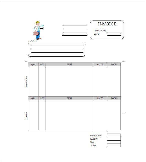 Free Contractor Invoice Templates | Free & Premium Templates