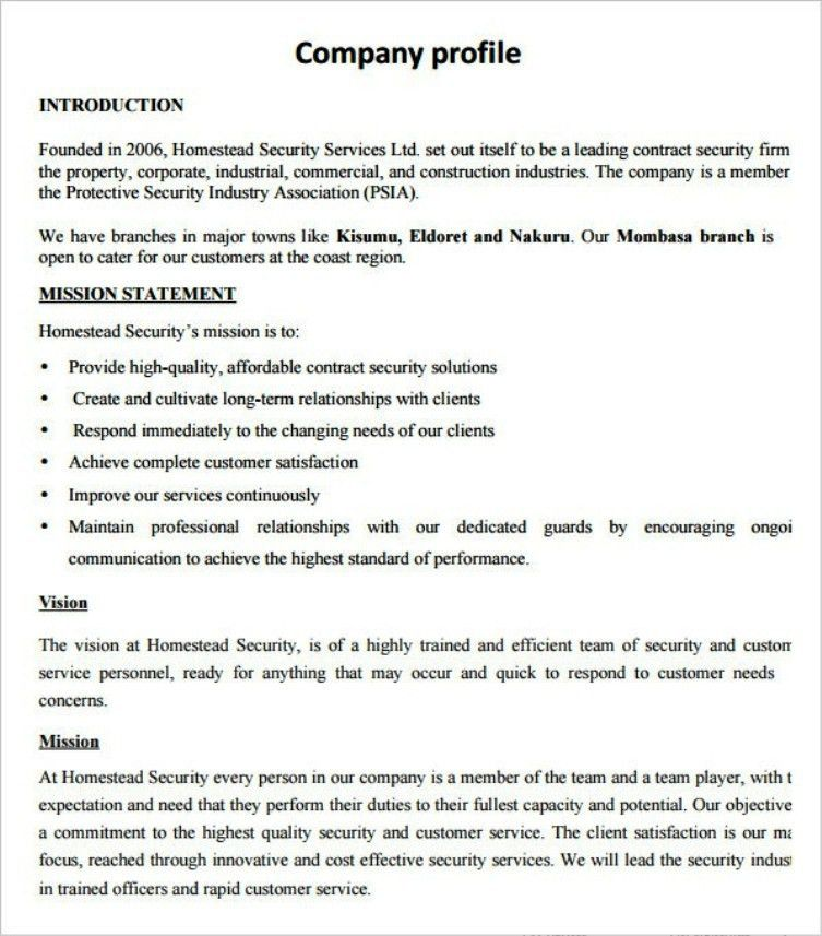 Company Profile Sample Design | TemplateZet